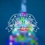 Fondo retro de la Navidad Foto de archivo libre de regalías