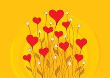 Fondo retro de la tarjeta del día de San Valentín Foto de archivo