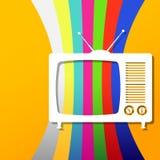 Fondo retro de la TV Imagenes de archivo