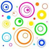 Fondo retro de los círculos Imagen de archivo