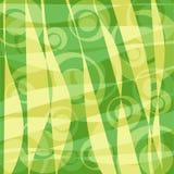 Fondo retro de los círculos - verde Fotos de archivo