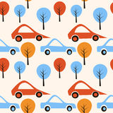 Fondo retro de los coches ilustración del vector