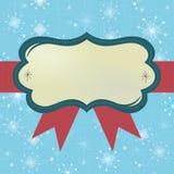 Fondo retro de los copos de nieve del marco Imágenes de archivo libres de regalías