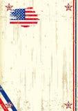 Fondo retro de los E.E.U.U. Imagen de archivo