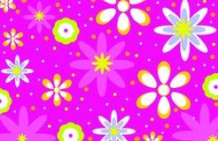 Fondo retro de neón de la flor Fotografía de archivo libre de regalías