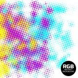 Fondo retro de semitono abstracto del RGB Imagen de archivo