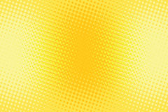 Fondo retro de semitono del arte pop del amarillo anaranjado stock de ilustración