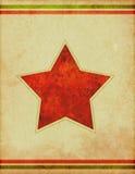 Fondo retro del cartel de la estrella Imagen de archivo