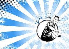 Fondo retro del cartel del ping-pong stock de ilustración