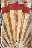 Fondo retro del cartel del rayo de sol del renacimiento en color Fotografía de archivo