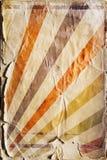 Fondo retro del cartel del rayo de sol del renacimiento en color Fotografía de archivo libre de regalías
