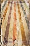 Fondo retro del cartel del rayo de sol del renacimiento en color Imagen de archivo