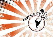 Fondo retro del cartel del tenis libre illustration