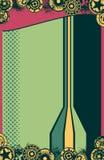 Fondo retro del cartel del vector de Grunge Foto de archivo