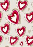 Fondo retro del corazón Imagen de archivo