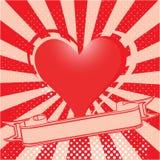 Fondo retro del día de tarjetas del día de San Valentín Fotos de archivo libres de regalías