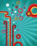 Fondo retro del diseño abstracto Imagen de archivo libre de regalías