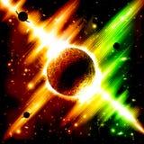 Fondo retro del espacio ilustración del vector
