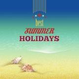 Fondo retro del estilo de las vacaciones de verano Imágenes de archivo libres de regalías