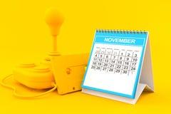 Fondo retro del juego con el calendario ilustración del vector