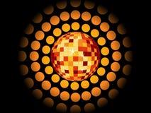 Fondo retro del partido con la bola del disco Imágenes de archivo libres de regalías