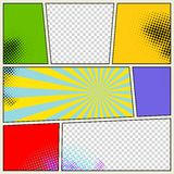 Fondo retro del vector del cómic Imagen de archivo