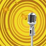 Fondo retro del viejo estilo del micrófono Imágenes de archivo libres de regalías