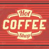 Fondo retro del vintage del café stock de ilustración
