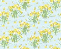 Fondo retro del vintage del narciso floral Foto de archivo libre de regalías