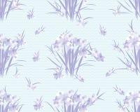 Fondo retro del vintage del narciso floral Imagen de archivo