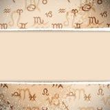 Fondo retro del zodiaco Fotos de archivo