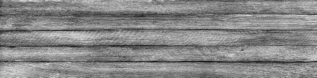 Fondo retro panorámico horizontal del grunge de tablones de madera fotos de archivo