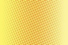 Fondo retro rojo amarillo abstracto del arte pop de la pendiente stock de ilustración