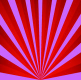Fondo retro rojo y violeta El vintage irradia el modelo Imagenes de archivo