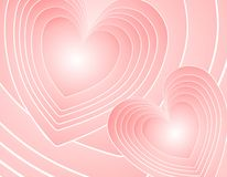 Fondo retro rosado abstracto de los corazones Imagen de archivo