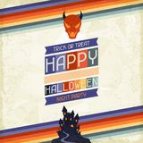 Fondo retro sucio del feliz Halloween Fotografía de archivo libre de regalías