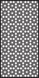 Fondo rettangolare del modello della grata nello stile arabo arabesque Immagine Stock Libera da Diritti