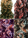 Fondo rizado de la textura del pelo del punto culminante Fotografía de archivo