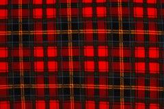 Fondo rojo #2 de la tela escocesa Fotografía de archivo libre de regalías