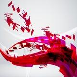 Fondo rojo abstracto Imagenes de archivo