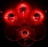 Fondo rojo abstracto stock de ilustración