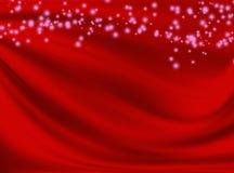 Fondo rojo abstracto con las líneas onduladas Foto de archivo libre de regalías