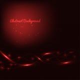 Fondo rojo abstracto con las líneas y las luces Foto de archivo libre de regalías