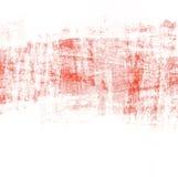 Fondo rojo abstracto de la brocha con textura del rasguño Fotos de archivo libres de regalías