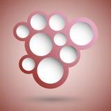 Fondo rojo abstracto de la burbuja del discurso Imagen de archivo libre de regalías