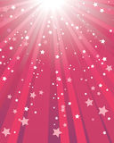 Fondo rojo abstracto de la estrella Fotografía de archivo libre de regalías