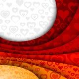 Fondo rojo abstracto de la tarjeta del día de San Valentín Fotografía de archivo libre de regalías