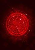 Fondo rojo abstracto de la tecnología ilustración del vector