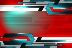Fondo rojo abstracto de la tecnología Imagen de archivo libre de regalías