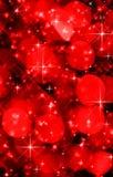 Fondo rojo abstracto de las luces del día de fiesta Foto de archivo libre de regalías